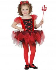 Verkleedkostuum duivelin met tutu voor meisjes Halloween pak