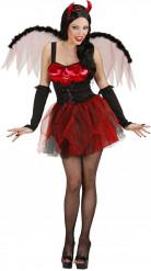 Sexy rode duivelin Halloween kostuum voor vrouwen
