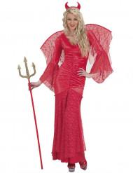 Kanten Halloween kostuum rode duivel voor vrouwen