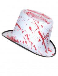 Witte hoed met bloedvlekken voor volwassenen