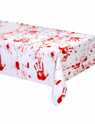 Bebloede handen tafelkleed