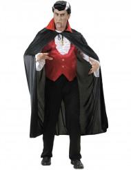 Vampier cape met rode kraag voor volwassenen