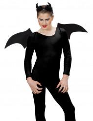 Demon set zwart Halloween accessoire