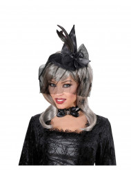 Mini heksen hoed met sluier voor volwassenen Halloween
