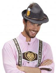 Grijs Beierse hoed voor volwassenen