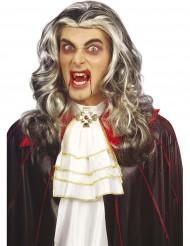 Tweekleurige vampierspruik voor volwassenen