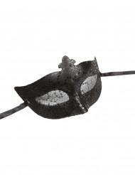 Zwart Venetiaans masker voor volwassenen
