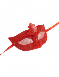 Rood Venetiaans masker voor volwassenen
