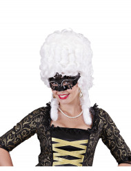 Venetiaans masker met zwarte strass voor volwassenen