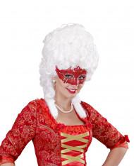 Venetiaans masker rood strass voor volwassenen