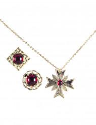 Vampier juwelen set voor volwassenen Halloween accessoires