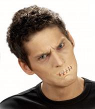 Nep wond genaaide mond voor volwassenen Halloween accessoire