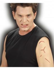 Nep hernaaide littekens voor volwassenen Halloween accessoire