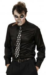 Skelet stropdas voor volwassenen Halloween