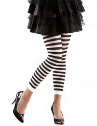 Zwart / wit gestreepte legging voor volwassenen