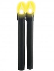 Lichtgevende zwarte kaarsen op batterijen