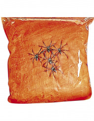 Nep spinnenweb in het oranje Halloween decoratie
