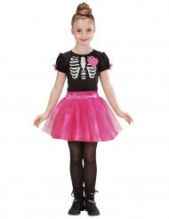 Verkleedkostuum roze Skelet voor meisjes Halloween