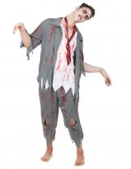 Zombie scholier kostuum voor mannen