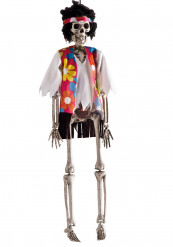 Halloween versiering hangend hippie skelet