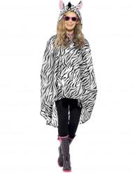 Poncho zebra voor volwassenen