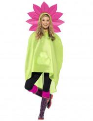 Poncho bloem voor volwassenen