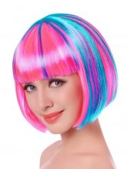 Fel gekleurde neon pruik voor vrouwen