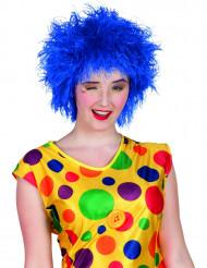 Blauwe clown pruik voor vrouwen