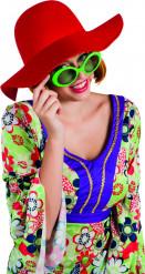 Rode zomerse hoed voor dames