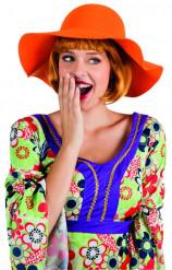Oranje zomerhoed voor vrouwen