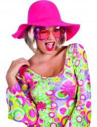 Roze zomerse hoed voor vrouwen