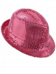 Fluo roze hoed voor volwassenen