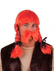 Oranje Gallier pruik