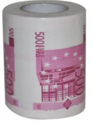 WC papier 500 euro biljetten