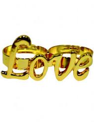 Goudkleurige Love ring voor volwassenen