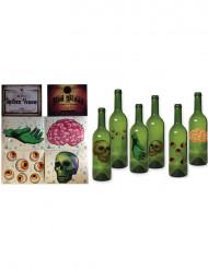 Halloween lot 6 fles versieringen