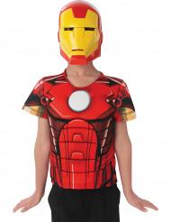 T-shirt en masker van Iron Man Avengers Assemble™ voor kinderen