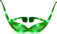 Lichtgevend groen vlinder bril