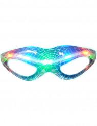 Bril lichtgevend doorschijnend spinnenweb Halloween accessoire