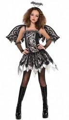 Zwarte engel kostuum voor tieners