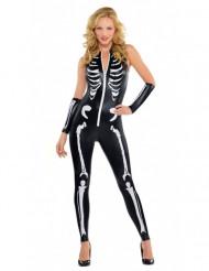 Verkleedkostuum sexy skelet voor dames Halloween