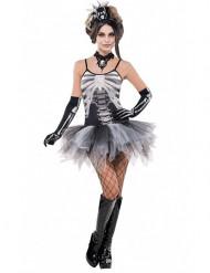 Verkleedkostuum sexy skelet voor dames Halloween kleding
