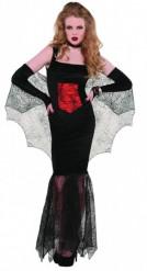 Vampier verkleedpak voor dames Halloween