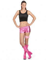 Glimmend roze disco shorty voor vrouwen