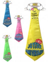 Grappig stropdas Joyeux anniversaire