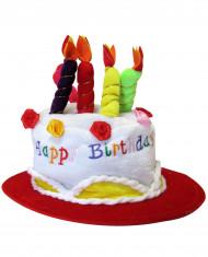 Rood Happy Birthday muts voor volwassenen