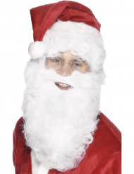 Witte baard van 28 cm voor volwassenen Kerst