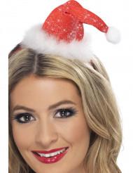 Mini glitter hoed Kertsvrouw voor dames