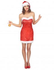 Sexy kerstvrouw jurk en muts voor vrouwen