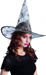 Spinnenweb heksen hoed voor volwassenen Halloween